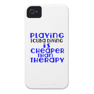 Playing Scuba Diving Cheaper Than Therapy iPhone 4 Case-Mate Cases