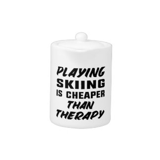 Playing Skiing is cheaper than therapy