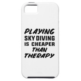 Playing Sky Diving is cheaper than therapy iPhone 5 Case