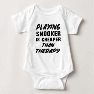 Playing Snooker is cheaper than therapy Baby Bodysuit