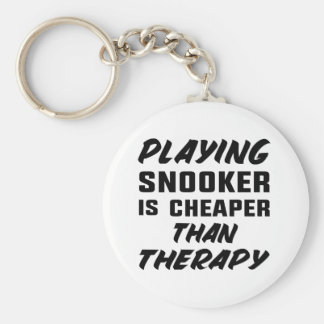 Playing Snooker is cheaper than therapy Key Ring
