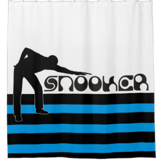 PLAYING SNOOKER modern font + your ideas Shower Curtain