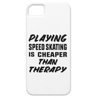 Playing Speed Skating is cheaper than therapy Case For The iPhone 5