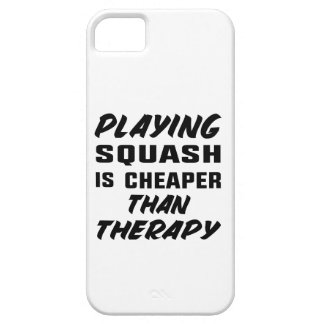 Playing Squash is cheaper than therapy iPhone 5 Cover