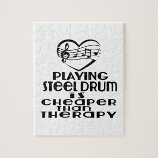 Playing Steel Drum Is Cheaper Than Therapy Jigsaw Puzzle