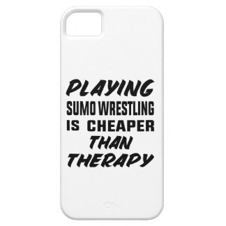 Playing Sumo Wrestling is cheaper than therapy Barely There iPhone 5 Case