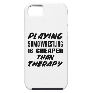 Playing Sumo Wrestling is cheaper than therapy Tough iPhone 5 Case