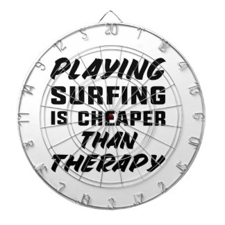 Playing Surfing is cheaper than therapy Dartboard