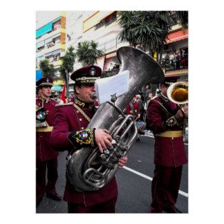 Playing the tuba on Palm Sunday, Marbella Poster