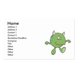 playing tough green monster friend business card
