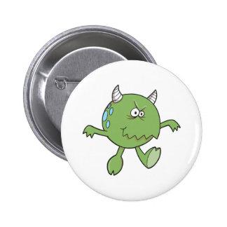 playing tough green monster friend pinback buttons