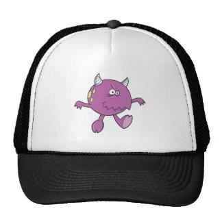 playing tough purple monster friend mesh hat