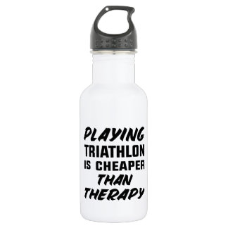 Playing Triathlon is cheaper than therapy 532 Ml Water Bottle