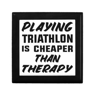 Playing Triathlon is cheaper than therapy Gift Box