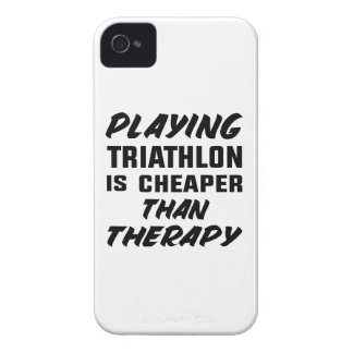 Playing Triathlon is cheaper than therapy iPhone 4 Case-Mate Cases