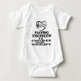 Playing Xylophone Is Cheaper Than Therapy Baby Bodysuit