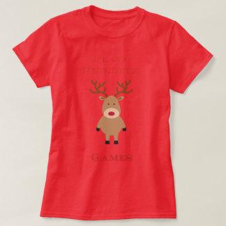 Plays Reindeer Games Christmas Ladies Tee