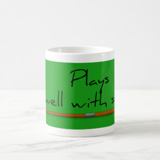 Plays Well, Funny Saying Mug