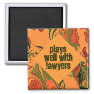 plays well humor square magnet