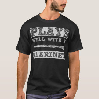Plays Well with a Clarinet School Band T-Shirt