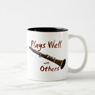 Plays Well with Others Clarinet Two-Tone Mug