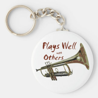 Plays Well with Others/ Trumpet Key Ring