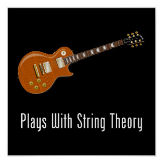 Plays With String Theory - Guitar Posters