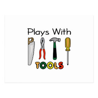 PLAYS WITH TOOLS POSTCARD