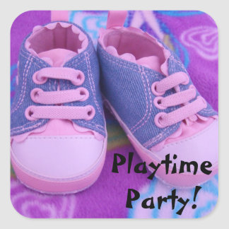 Playtime Party! stickers Pink Baby Toddler Shoes