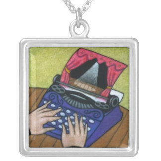 Playwright Silver Plated Necklace