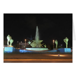 Plaza Caracol Fountain, Cancun Card
