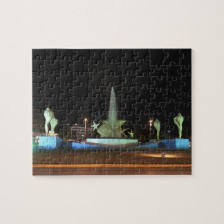 Plaza Caracol Fountain, Cancun Jigsaw Puzzle