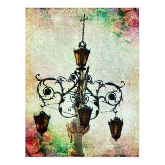 Plaza Light Floral Grunge Postcard