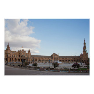 Plaza of Spain in Seville Poster
