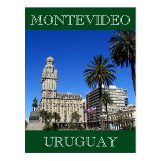 plaza uruguay montevideo postcard