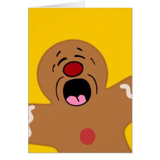 Pleading Gingerbread Man Cookie Greeting Card
