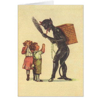 Pleading With Krampus Card