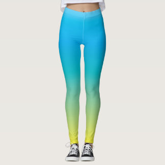 Pleasant Mood (green blue yellow gradient color) Leggings