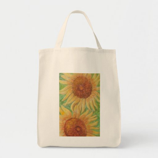 PLEASANT SUNFLOWERS Grocery Tote Bag