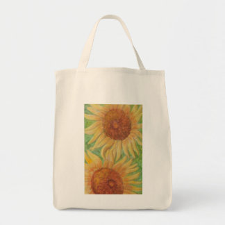 PLEASANT SUNFLOWERS Grocery Tote Grocery Tote Bag