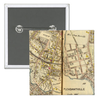 Pleasantville, New York 2 15 Cm Square Badge