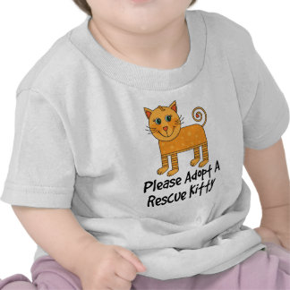 Please Adopt A Rescue Kitty Cat Gift Tee Shirts