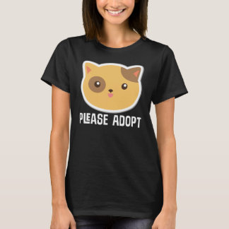 Please Adopt Cat Rescue T-shirt