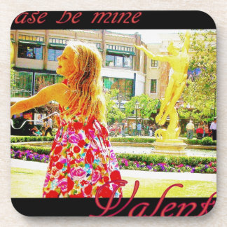 """Please be mine, Valentine"" Beverage Coaster"