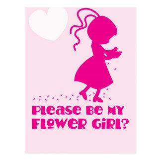 Please be my Flower Girl Greeting card Postcard