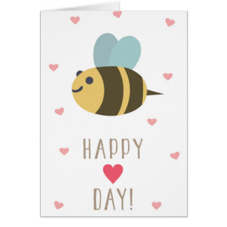 Please Bee My Valentine Greeting Card