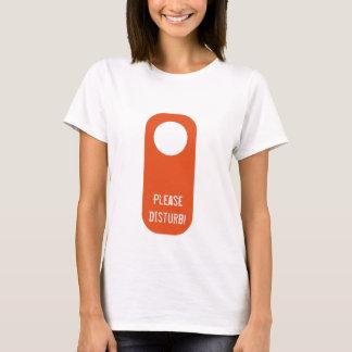 Please Disturb light t-shirt
