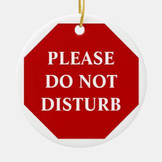 Please Do Not Disturb Door Hanger Ceramic Ornament