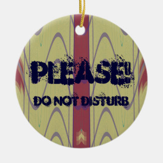 Please Do Not Disturb Doorknob Ornament