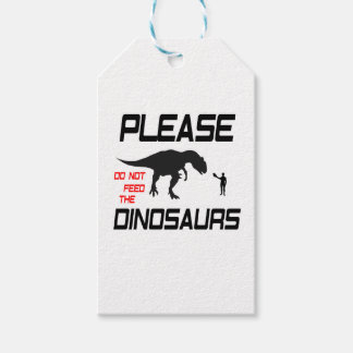 Please Do Not Feed The Dinosaurs Gift Tags
